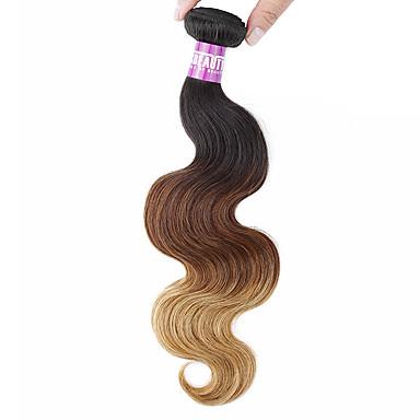 Μαλαισιανή Κυματομορφή Σώματος Υφάνσεις ανθρώπινα μαλλιών 1 Τεμάχιο 0.1