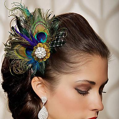 2016 neue Art und Weisepartei-Federhaarzusätze handgemachter Kopfstückclip im Haar