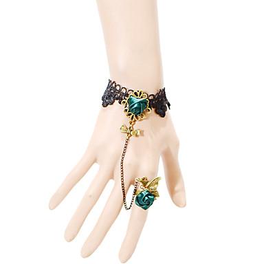 נשים צמידי טבעת אופנתי מתכווננת תחרה תכשיטים עבור Party יומי קזו'אל