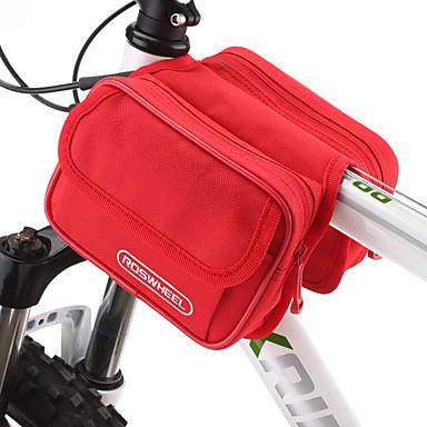 ROSWHEEL Fahrradtasche 1.7L Fahrradrahmentasche Feuchtigkeitsundurchlässig / Wasserdichter Reißverschluß / tragbar Tasche für das Rad
