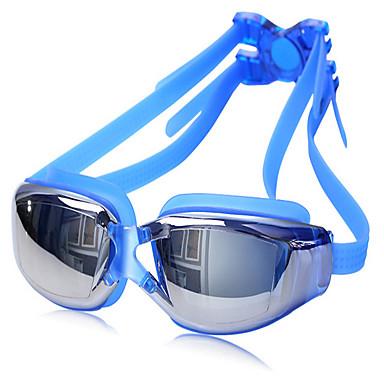 Schwimmbrille Anti-Beschlag Verstellbare Größe Anti - UV - Beschichtung Wasserdicht Kieselgel PC UV Grau Schwarz Blau Grau Schwarz Blau