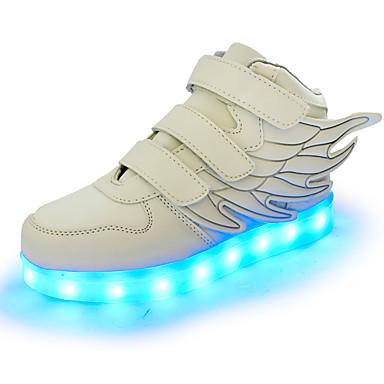 Gutt Sko Syntetisk Vår Lysende sko Treningssko Gummi LED Hekte til Atletisk Avslappet Fest / aften Svart Rød Grønn Rosa Marineblå