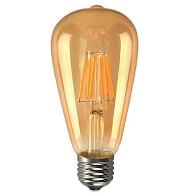 KWB 6W 600 lm E26/E27 LED Kugelbirnen ST64 6 Leds COB Wasserfest Dekorativ Warmes Weiß Wechselstrom 85-265V