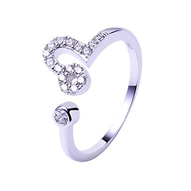 Ringe Einstellbar Hochzeit / Party / Alltag / Normal Schmuck Sterling Silber Eheringe 1 Stück,Verstellbar Silber