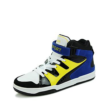 Herren-Sneaker-Lässig Sportlich-Stoff PU-Flacher Absatz-Komfort-Blau Rot