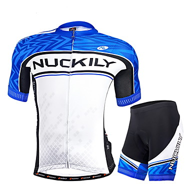 Nuckily Fahrradtriktot mit Fahrradhosen Herrn Kurzarm Fahhrad Armlinge Trikot/Radtrikot Shorts/Laufshorts Kleidungs-Sets Fahrradbekleidung
