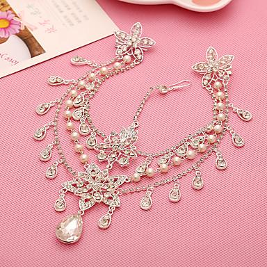 Damen Perle Strass Legierung Kopfschmuck-Hochzeit Besondere Anlässe Kopfkette 1 Stück