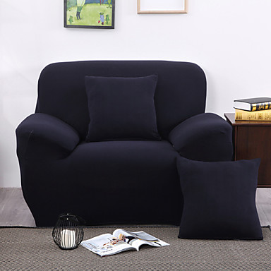 Modern Polyester Sofa Cover Stretch Anti Mite Solid Colored