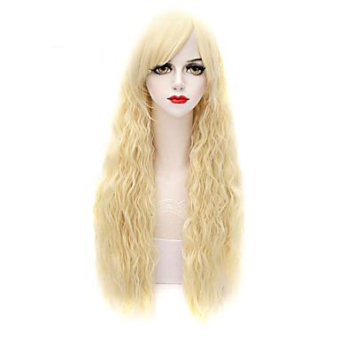 Damen Synthetische Perücken Kappenlos Lang Natürlich gewellt Blondine Kostüm Perücken