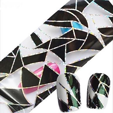 1 Adesivos para Manicure Artística Pontas de Unha Completa Abstracto Desenho Adorável Casamento maquiagem Cosméticos Designs para Manicure