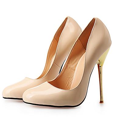 Magassarkú / Kerek orrú-Stiletto-Női cipő-Magassarkú-Esküvői / Ruha / Party és Estélyi-PU-Fekete / Piros / Mustár