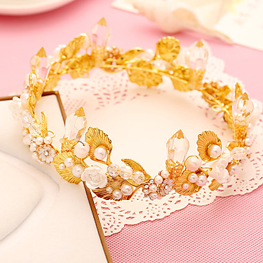 Perle Krystall Legering Hodeplagg-Bryllup Spesiell Leilighet Diademer 1 Deler