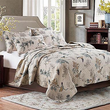 פרחוני שמיכות חוֹמֶר כריות מיטה 2 יחידות 1 יחידה כיסוי מטה