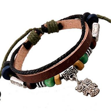 Herrn Damen Lederarmbänder Strang-Armbänder Leder Aleación Schmuck Für Hochzeit Party Alltag Normal Sport