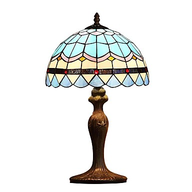 Tiffany Øyebeskyttelse Skrivebordslampe Til Metall 110-120V 220-240V
