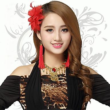 Tanz Accessoires Kopfbedeckungen Damen Leistung Kunststoff Blume Kopfbedeckung