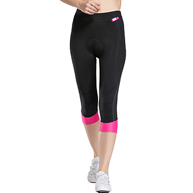 TASDAN Women's Cycling 3/4 Tights Bike Shorts 3/4 Tights Padded Shorts / Chamois Breathable 3D Pad Quick Dry Sports Solid Color Coolmax® Elastane Silicon Gray / Pink Road Bike Cycling Clothing Apparel