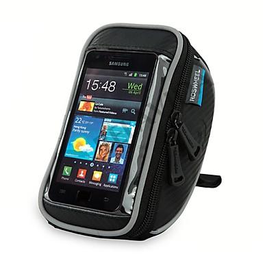 ROSWHEEL Fahrradlenkertasche Handy-Tasche 5.5 Zoll Wasserdichter Reißverschluß tragbar Feuchtigkeitsundurchlässig Stoßfest Touchscreen
