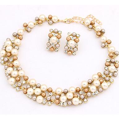 Damen Schmuckset Halskette / Ohrringe Perle Künstliche Perle Gold Pearl Aleación Niedlich Party Büro Europäisch Party Alltag Normal