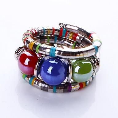 Mulheres Contas Bracelete / Pulseiras Strand - Boêmio, Fashion, Boho Pulseiras Vermelho / Azul Para Presentes de Natal / Diário / Casual