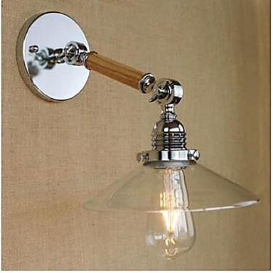 e27 110v-130v 220v-240v einfachen transparenten Glas Holz LED-Wand