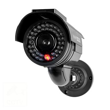 kingneo® 301s utendørs solcelle dummy sikkerhet kamera simulert overvåking kamera med flash led 1pc svart