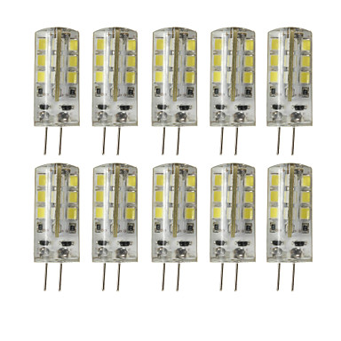 10pcs 3W 200-250 lm G4 Luces LED de Doble Pin T 24 leds SMD 2835 Regulable Decorativa Blanco Cálido Blanco Fresco DC 12V