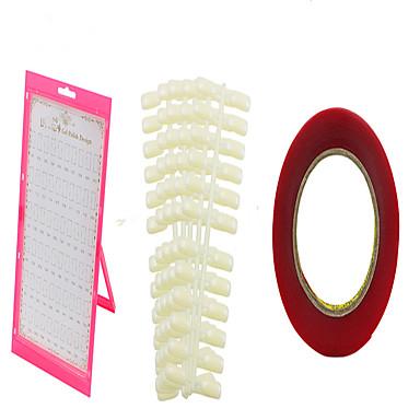 60 Cor Ferramentas Unhas Manicure terno poeira cor de exibição placa placa + 120 unha cola de dois lados