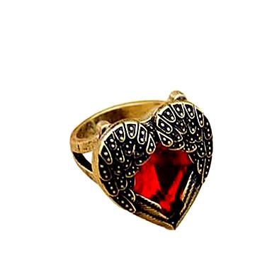 Maxi anel Sexy Moda Vintage Ajustável Vermelho Jóias Para Festa Casual 1peça