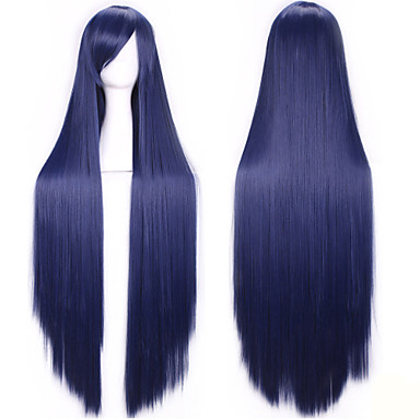 100 Cm Harajuku Anime Cosplay Wigs Young Long Straight Synthetic Hair Wig Bangs Blonde Costume Party Wigs
