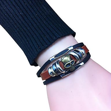 Armbånd Lær Armbånd Legering / Lær Vintage Daglig / Avslappet Smykker Gave Brun,1 stk