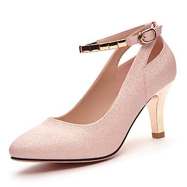 נעלי הנצנצים של נשי האביב / קיץ / עקבות נפילת משרד&קריירה / צד&פגיון ערב כסוף נצנצים נוצצים / בז '