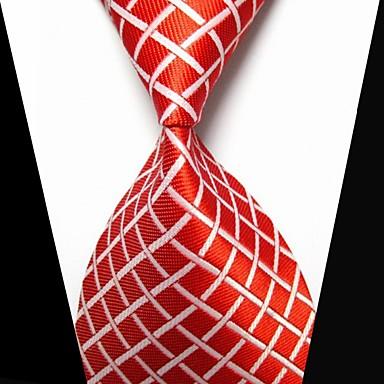 Herrn Modisch Kreuz Weiß Rot Stoff Tie Bar