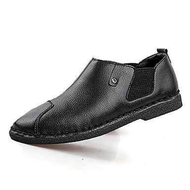Herre-PU-Flat hæl-Komfort-一脚蹬鞋、懒人鞋-Fritid-
