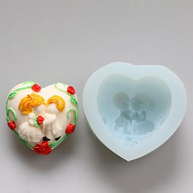 תבניות יום אהבת נשיקת שוקולד סיליקון אהבה, תבניות עוגה, תבניות סבון, כלי קישוט בישול