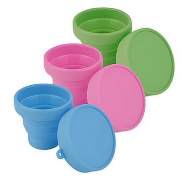 drinkware ג'ל סיליקה כוסות תה בקבוקי מים נייד חמוד 1pcs