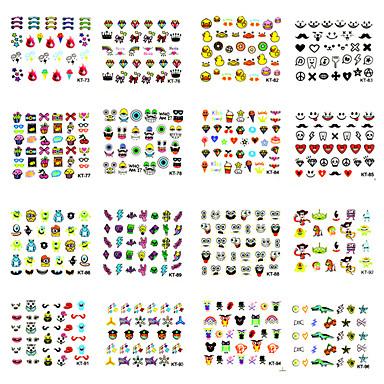 10 3D Nail Stickers Frukt Blomst Tegneserie Mote Smuk Punk Daglig Høy kvalitet