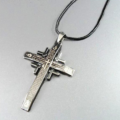 escritura - colar de pingente de cruz