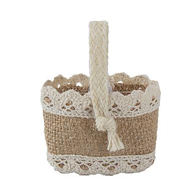 povoljno Kutijice za svadbene poklone-Košara Juta Naklonost Holder s Milost Torbe Milost konzerve i vjedra - 6