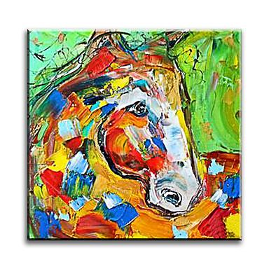Pintados à mão Animal Horizontal,Clássico Tradicional Realismo Mediterrêneo Pastoril Estilo Europeu Modern Tela Pintura a Óleo Decoração