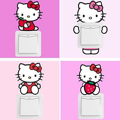 Tegneserie Wall Stickers Fly vægklistermærker Dekorative Mur Klistermærker / Klistermærker til kontakter,PVC Materiale Kan fjernesHjem