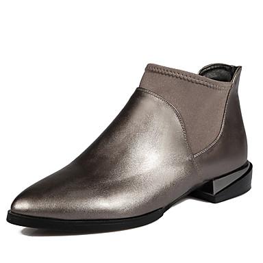 Feminino Sapatos Materiais Customizados Courino Outono Inverno Botas da Moda Botas Salto Robusto Botas Curtas / Ankle Para Casual Social