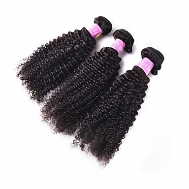 Человека ткет Волосы Бразильские волосы Kinky Curly 3 предмета волосы ткет
