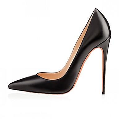 Homens Mulheres Unisexo Para Meninas Sapatos Couro Envernizado Microfibra Primavera Verão Saltos Salto Agulha Poa para Casamento Casual