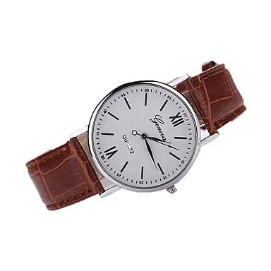 Masculino Relógio Elegante Relógio de Moda Relógio de Pulso Quartzo Couro Banda Marrom Preto Marron
