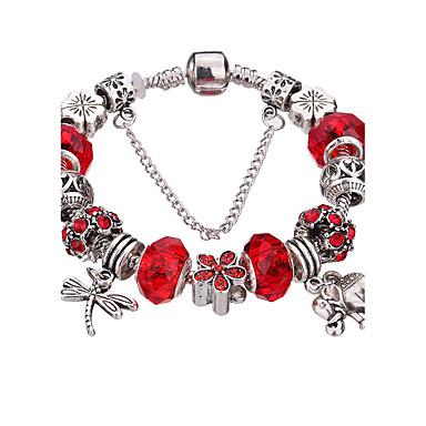 Damen Bettelarmbänder Armreife Silber Armbänder Strang-Armbänder Modisch bezaubernd Langlebig Perlenbesetzt Acryl Strass versilbert