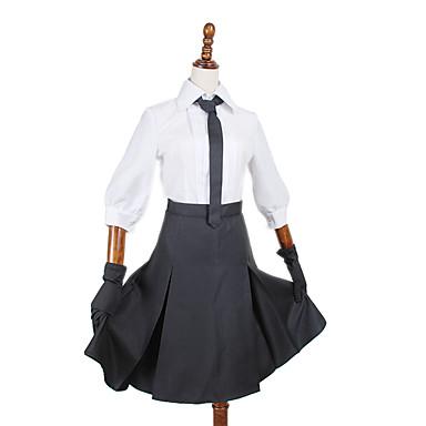 Inspiré par Autres Autres Anime Costumes Cosplay Costumes Cosplay Couleur Pleine Chemisier / Jupe / Cravate / Gants / Plus d'accessoires