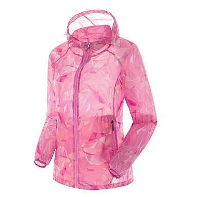 Mulheres Jaqueta de Trilha Prova-de-Água Resistente Raios Ultravioleta Á Prova-de-Pó Respirável Blusas para Acampar e Caminhar