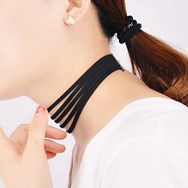 billige Mote Halskjede-Dame Choker Halskjede lagdelte Hals Multi Layer Personalisert Vintage Mote Multi Layer Flanellette Svart Halskjeder Smykker Til Fest Daglig Avslappet