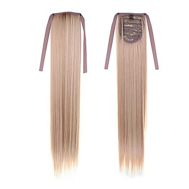 2016 nouveau 22inch cheveux queue de cheval (55cm) pas cher longue ligne droite cheveux # 27/613 couleur mélangée cheveux synthétiques